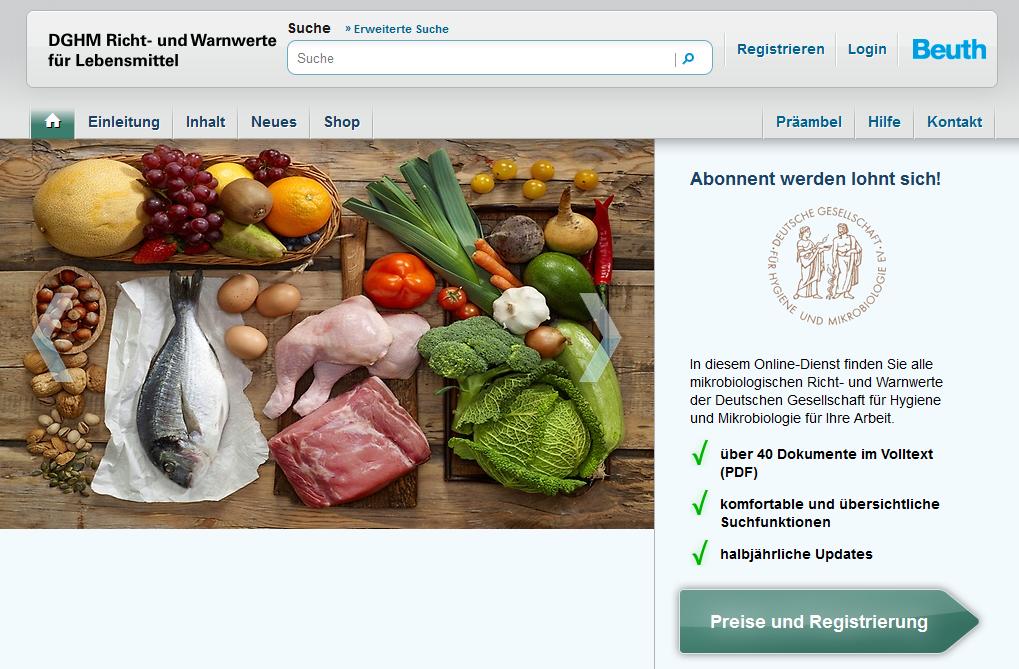 Mikrobiologische Richt- und Warnwerte zur Beurteilung von Lebensmitteln